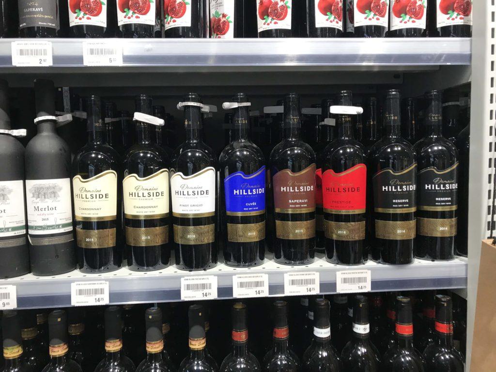 Hillside wine