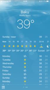 バクー気温