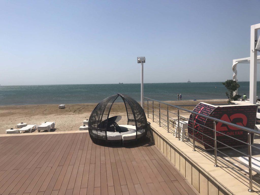 カスピ海のビーチ