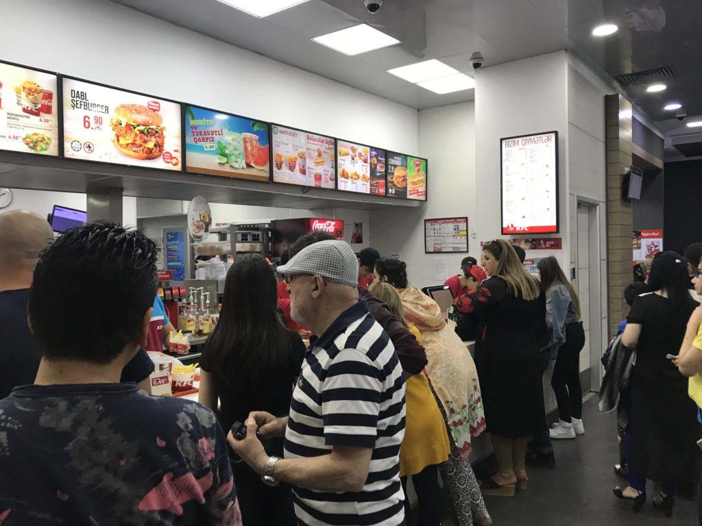 KFCカウンター