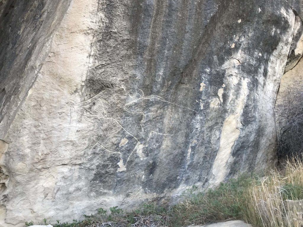 ゴブスタン国立公園の岩絵