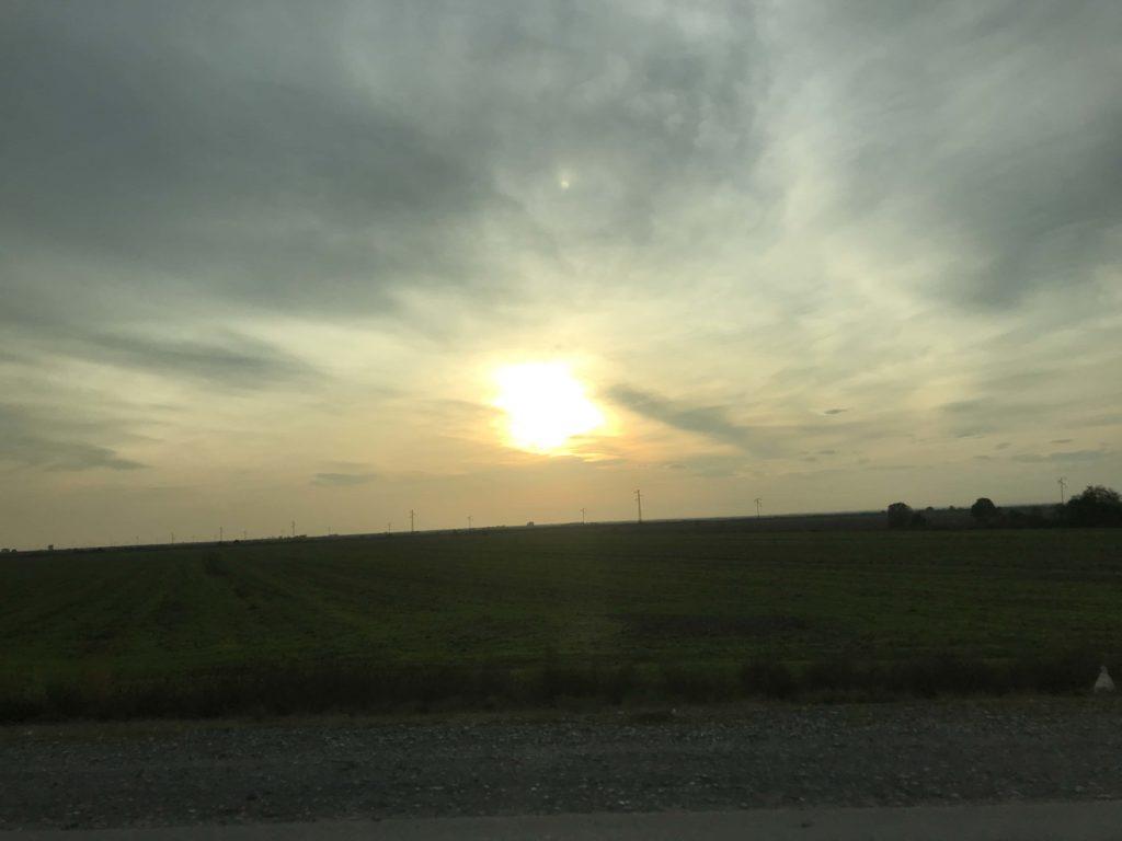 田舎の夕焼け