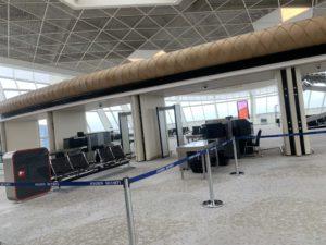 空港内の荷物検査場