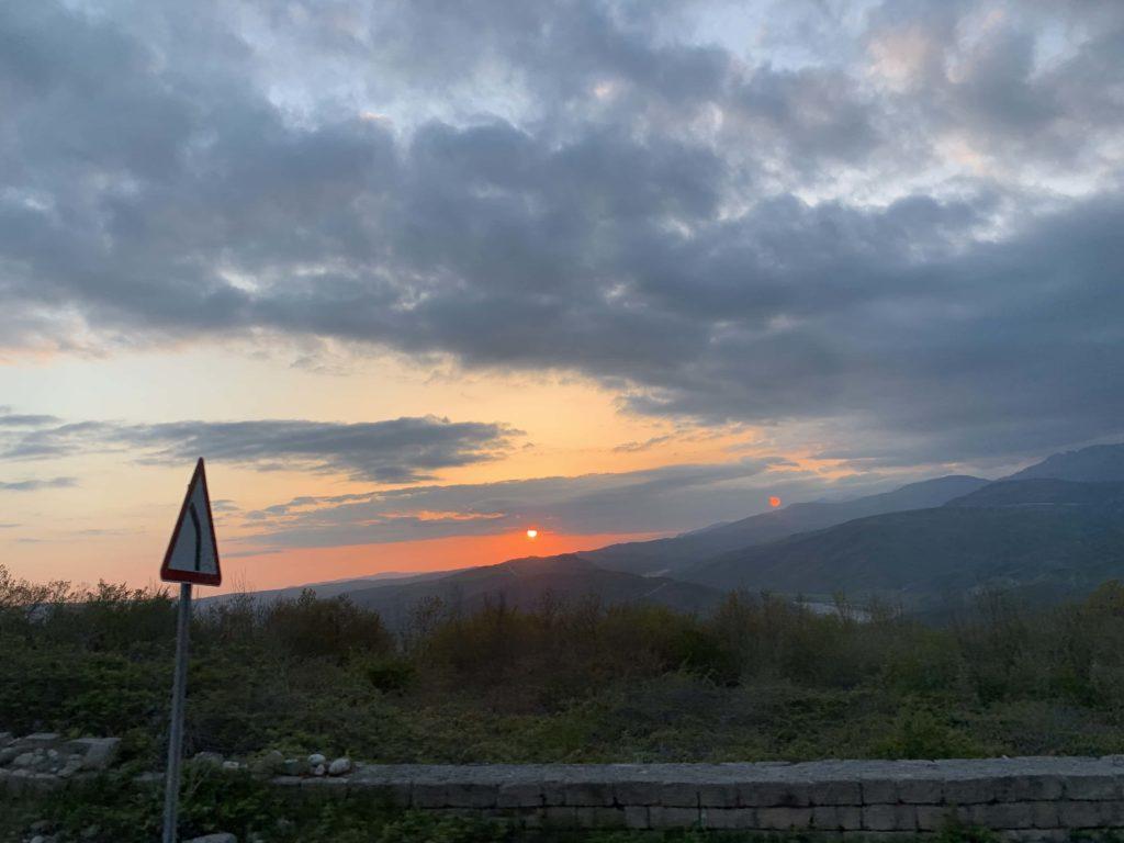 山の夕焼け