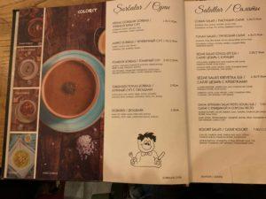 Kolorit menu