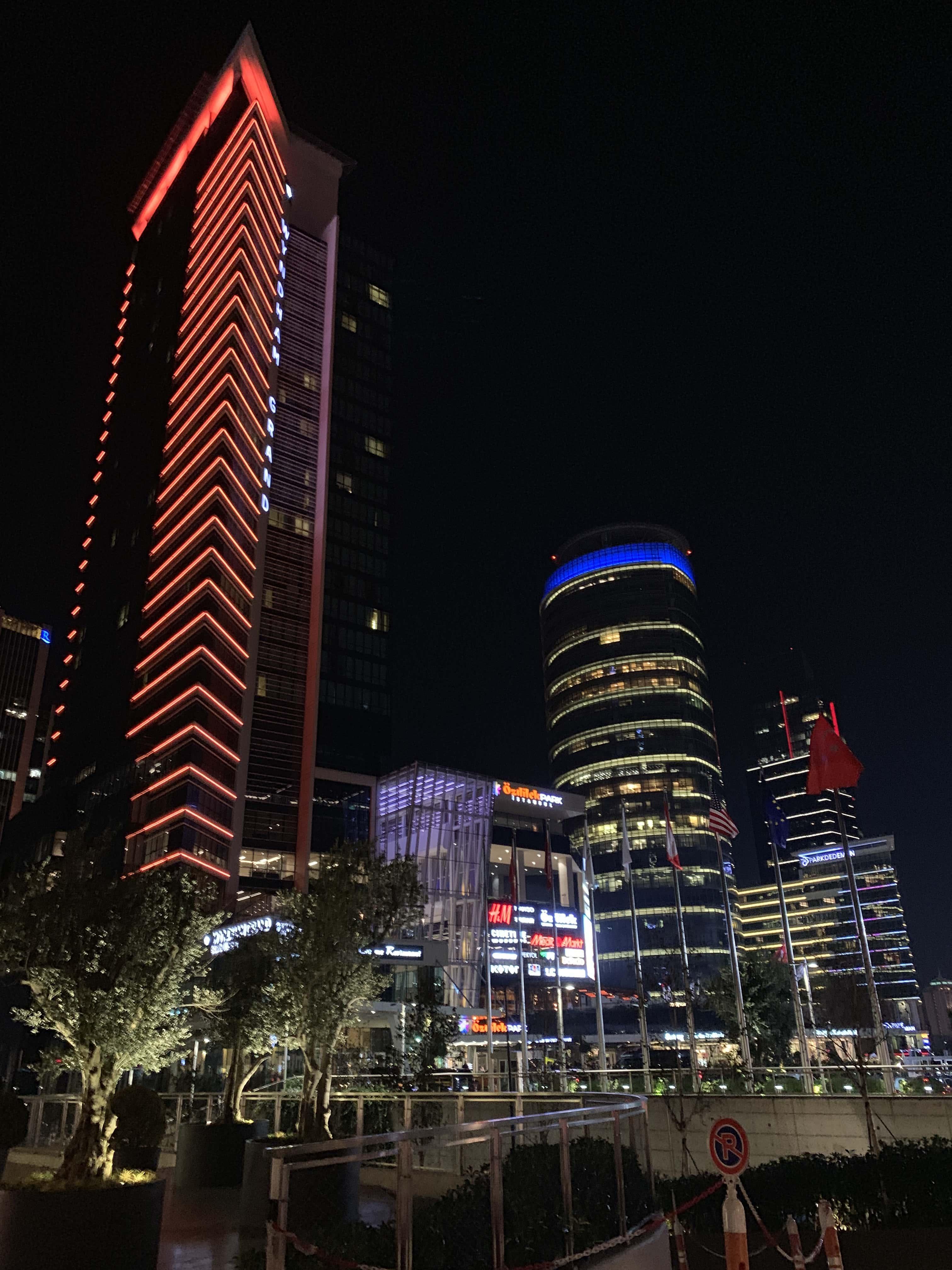 Turkey night view