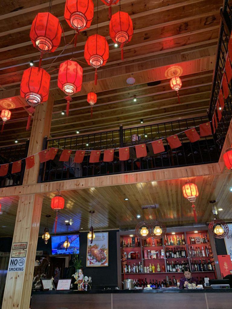 中華料理の店内