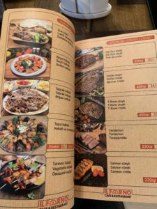 メニュー肉料理